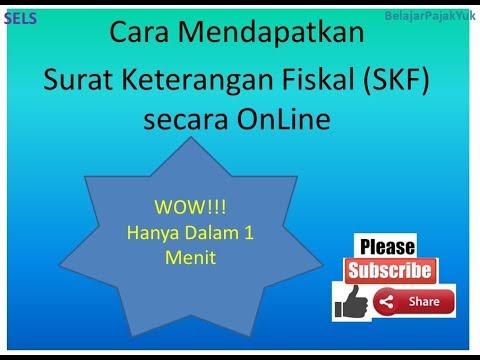 Tutorial Cara Mendapatkan Surat Keterangan Fiskal Skf Online Ikswp Dalam 1 Menit Untuk Tender Youtube
