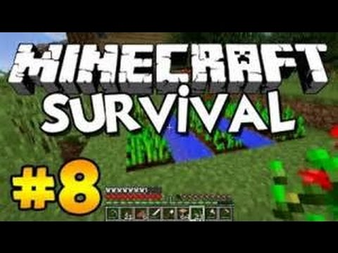 survival series episode 8  (building nether portal and veco getting trapped)