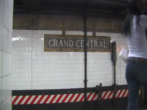 Grand Central Subway Station at Midtown Manhattan 42nd Street and Park Avenue in New York City NYC