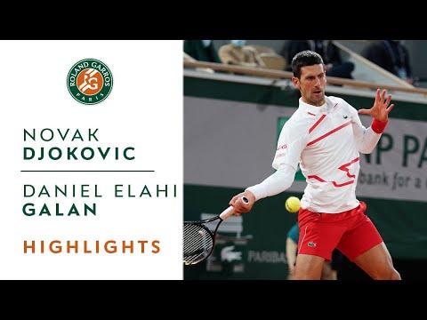 Novak Djokovic vs Daniel Elahi Galan - Round 3 Highlights   Roland-Garros 2020