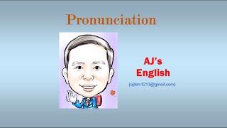 AJ Pronunciation #065 (영어발음-W로 시작하는 단어 발음 2), AJ's English Video