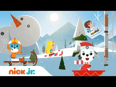 Jingle Bells Musical Sleigh Ride w/ Butterbean's Café, Top Wing, PAW Patrol, & Sunny Day | Nick Jr.