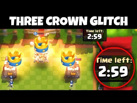 Thumbnail: YOU can THREE CROWN ANYONE in 1 SECOND with THIS GLITCH!! | Clash Royale
