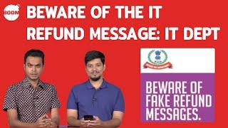 Beware Of The IT Refund Message: IT Dept