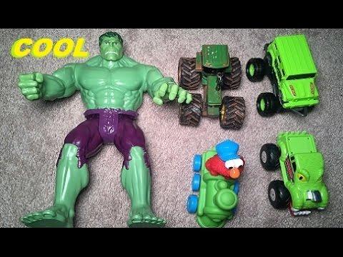 COLORS & MONSTER TRUCKS Hot Wheels Fire Truck Spiderman Nursery Rhymes Song