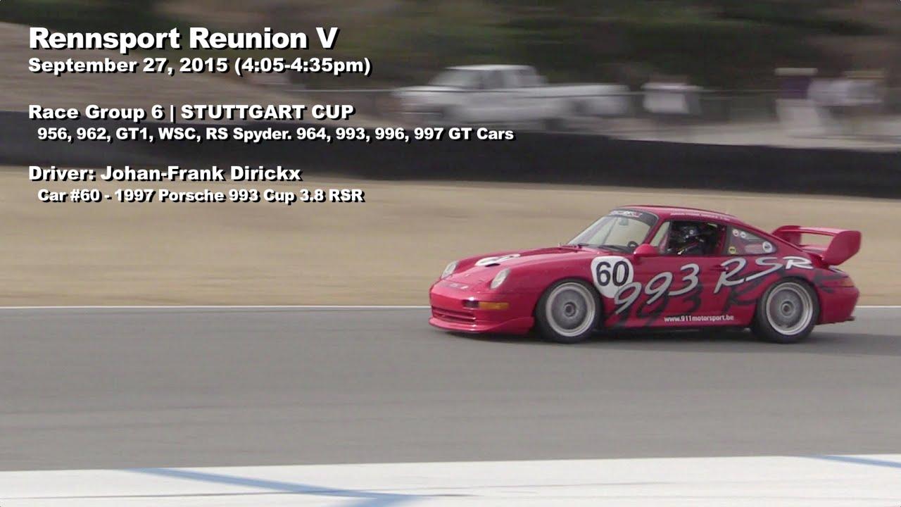 2015 Porsche Rennsport Reunion V  RACE Group 6  CAR 60 1997