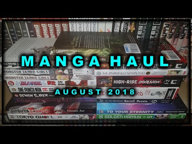 Manga Haul | August 2018 | Sustain the Industry
