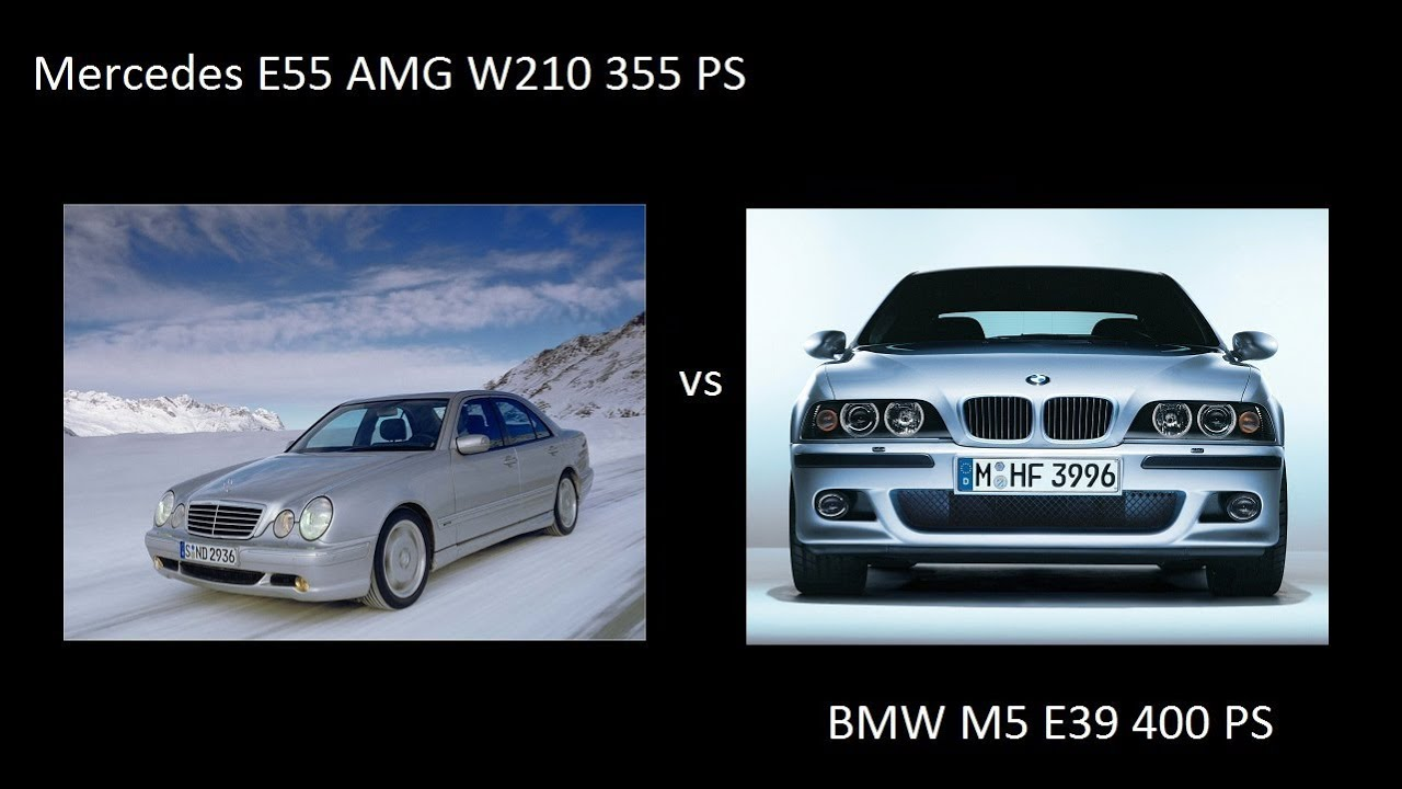 Mercedes E55 Amg W210 Vs Bmw M5 E39 Drag 0 250 Kmh