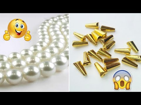 How To Make Beautiful Pearl Earrings at Home | DIY Trendy Earrings Making Tutorial | Jewellry Making