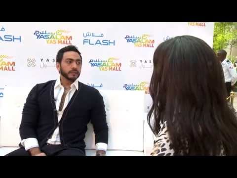 Tamer Hosny - Yasalam Live at Yas Mall Interview 2014