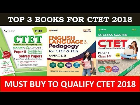 Top 3 Books For Ctet 2018 Youtube