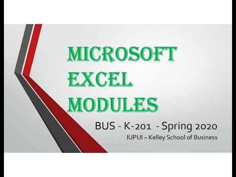 Excel 2016 Module 9 Part 1 Loan Analysis - 720p