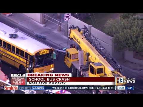 School bus crash near Arville, Oakey thumbnail
