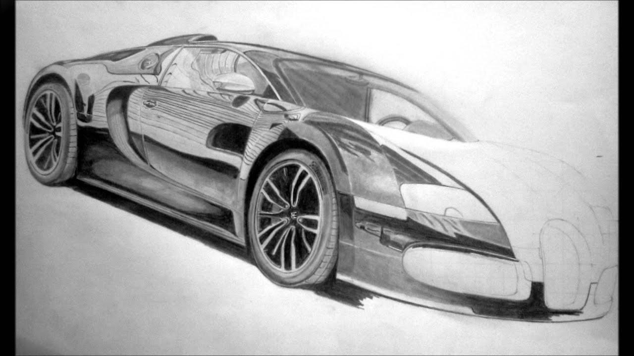Bugatti Veyron Sang Noir Pencil Drawing - YouTube
