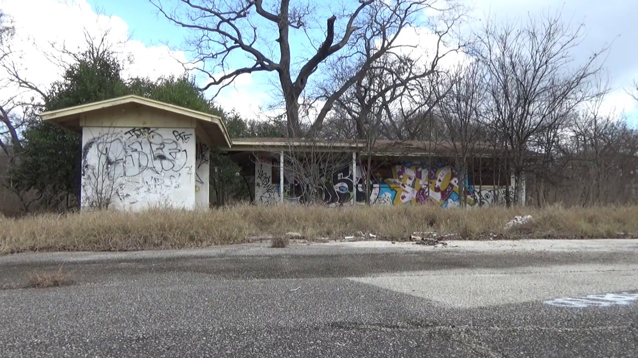 Urban Exploration Of Abandoned Trailer Park In Austin Texas