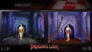 Dragon's Lair   Amiga & Arcade Laserdisc - Comparison