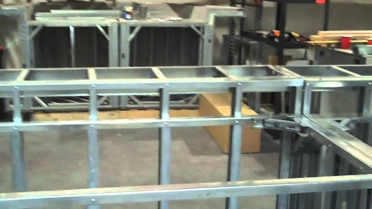 Outdoor Kitchen Frames Light Fixtures For Kitchens The Dallas U Island Pre Fab Frame By Bbq Coach Youtube
