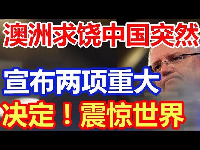澳大利亚向中国求饶,突然宣布两项重大决定!震惊世界