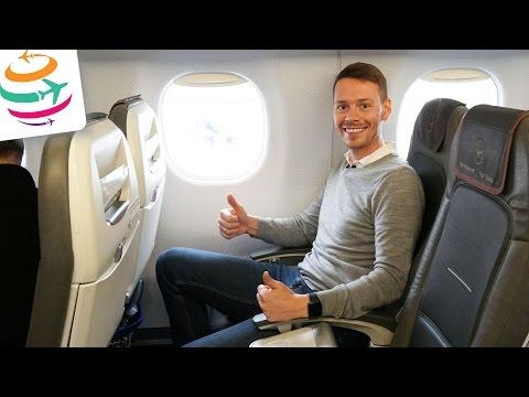 Lufthansa Business Class Embraer 190 Flugreport Review  | GlobalTraveler.TV
