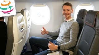 lufthansa business class embraer 190 flugreport review   globaltraveler tv