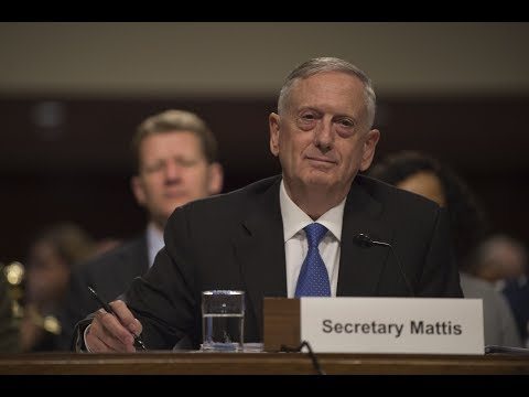 Defense Secretary Jim Mattis testifies before the Senate Armed Services Committee