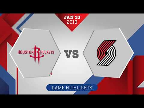 Portland Trail Blazers vs. Houston Rockets - January 10, 2018