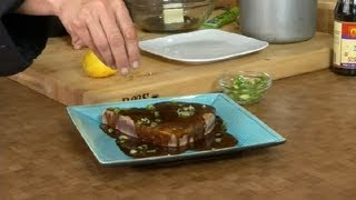 Seared Ahi Tuna Steak With Wasabi Butter : Conventional Cooking