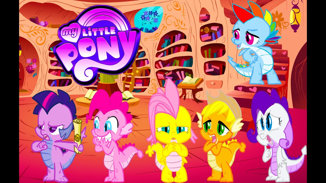 My Little Pony Mane 6 Transforms Into Spike All Colors
