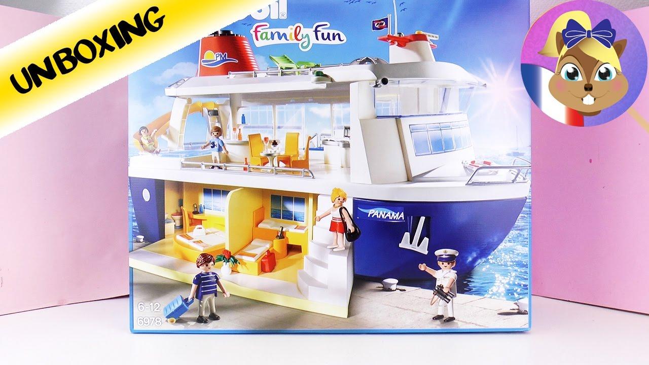 bateau de croisi re playmobil gigantesque bateau avec piscine joue avec moi jeux pour enfants. Black Bedroom Furniture Sets. Home Design Ideas