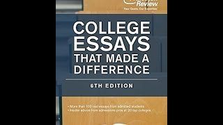 Writing an essay for college application 5th edition