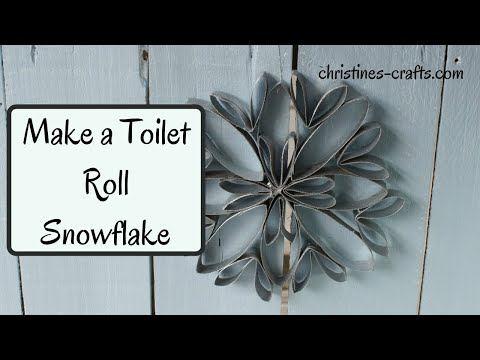 HOW TO MAKE A TOILET PAPER ROLL SNOWFLAKE - Christmas decorations that you can make upcycling