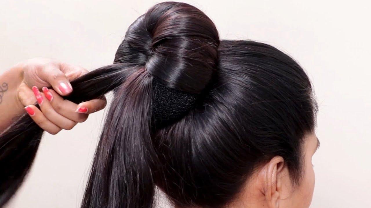 How to Create the Modern Big Bun   Easy Donut Bun hairstyles