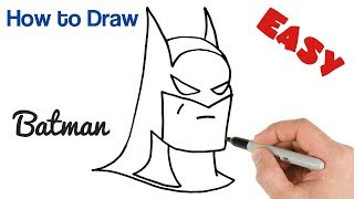 How to Draw Batman Easy Step by Step Drawing