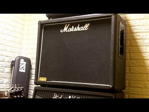 marshall 1936 2x12 cab fulltone ocd esp eclipse ii burstbucker pros crate gt500h youtube. Black Bedroom Furniture Sets. Home Design Ideas