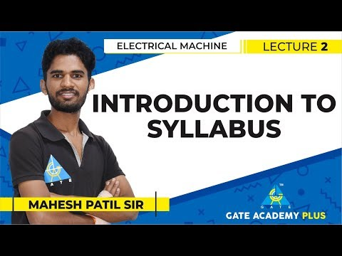 ELECTRICAL MACHINE | INTRODUCTION TO SYLLABUS | LECTURE 02