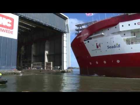 Naming and launch of pipelaying vessel SAPURA JADE