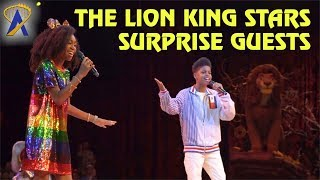 The Lion King Stars JD McCrary and Shahadi Wright Joseph Surprise Guests at Walt Disney World