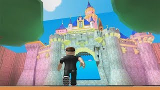 ROBLOX: FLEEING THE CRAZY DISNEY CASTLE! (Disney Pixar Obby)