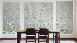 chinoiserie wallpaper - nsr handcrafts hand painted wallpaper chinoiserie wallpaper