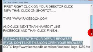 How To Make Facebook Shortcut On Desktop 100% work