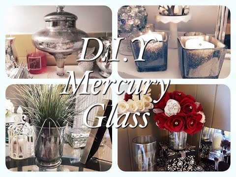 Dollar Tree Faux Mercury Glass D.I.Y Projects