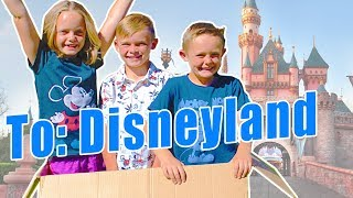 WE MAILED OURSELVES TO DISNEYLAND AND IT WORKED! Pt 2 (skit) Kids Fun TV Family Vacation