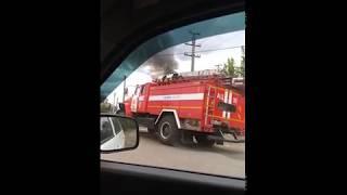 Пожар на улице Солнечная в Сызрани