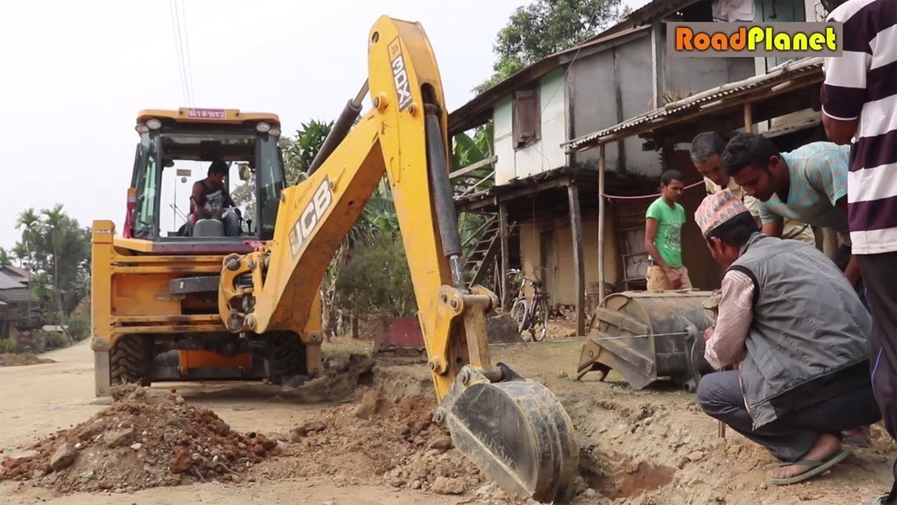 Poor Country Road Construction - JCB - JCB Dozer Road Construction (Part 2)