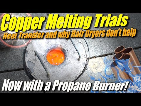 Copper Melting Trials: Using a Propane Burner to try to melt copper in the Mini Metal Foundry