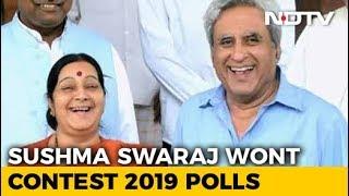 """Madam, Thank You"": Sushma Swaraj's Husband On Her 2019 Polls Reveal"