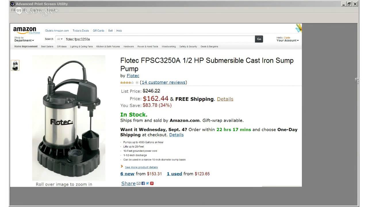 flotec fpsc3250a 12 hp stainless steel automatic sump pump reviews - Flotec Sump Pump