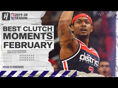NBA's Best CLUTCH Plays & Game-WINNERS | February 2019-20 NBA Season