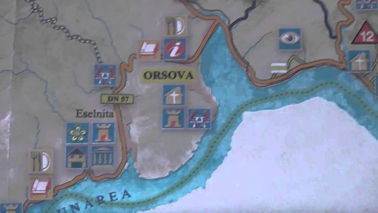 Harta Dunare Zona Orsova Youtube