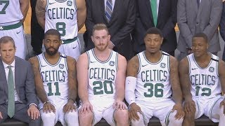 Gordon Hayward Team Photo! Celtics 62% From Field! Kyrie 34 Pts! 2017-18 Season